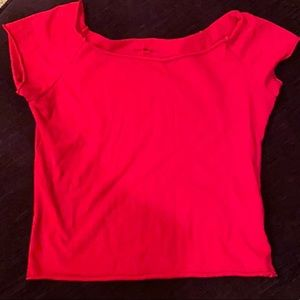Red brandy Melville off the shoulder top
